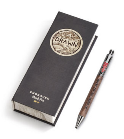 Go Where You Are Drawn Wooden Engraved Pen by Demadco