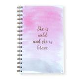 She Is Wild Notebook by Oh My Word Paperie