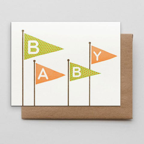 Baby Flags Card by Hammerpress