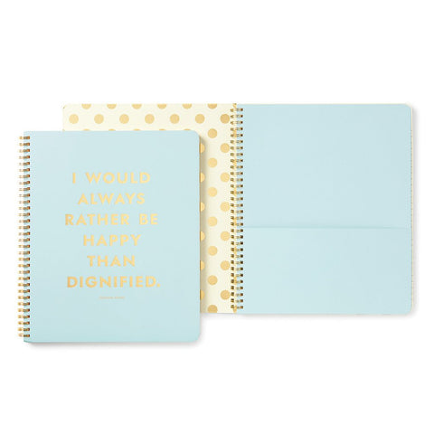 Be Happy Large Spiral Notebook by Kate Spade