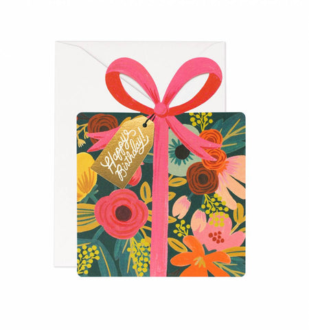 Birthday Present Die Cut Card by Rifle Paper Co.