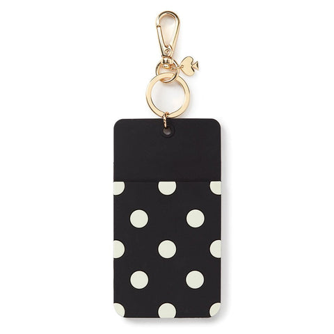 ID Clip Black Dot Why Hello There by Kate Spade