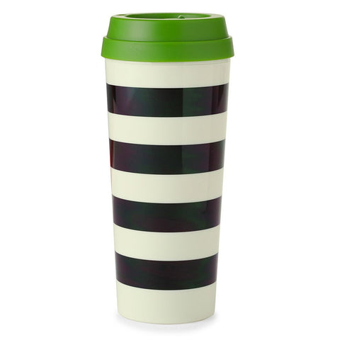 Black Stripe Thermal Tumbler by Kate Spade