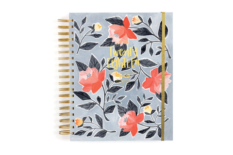 2018 Blue Floral 17 Month Planner by 1 Canoe 2