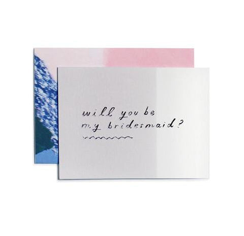 Will You Be My Bridesmaid? Card by Moglea