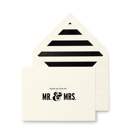 Mr. & Mrs. Bridal Notecard Set by Kate Spade