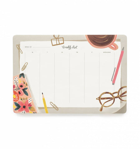 Desktop Weekly Desk Pad by Rifle Paper Co