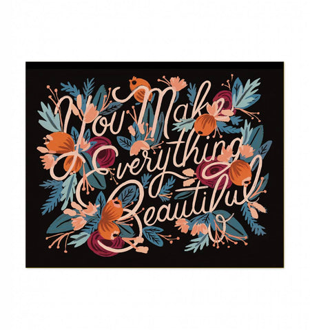 Everything Beautiful Art Print by Rifle Paper Co