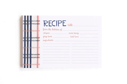 Fireside Plaid Recipe Cards by 1 Canoe 2