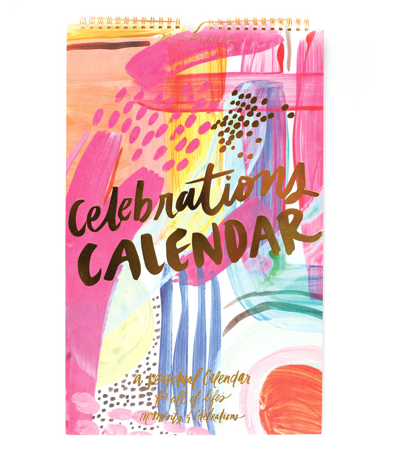 Perpetual Celebrations Calendar by Thimblepress