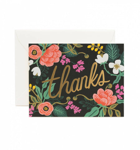 Birch Floral Thank You Card by Rifle Paper Co