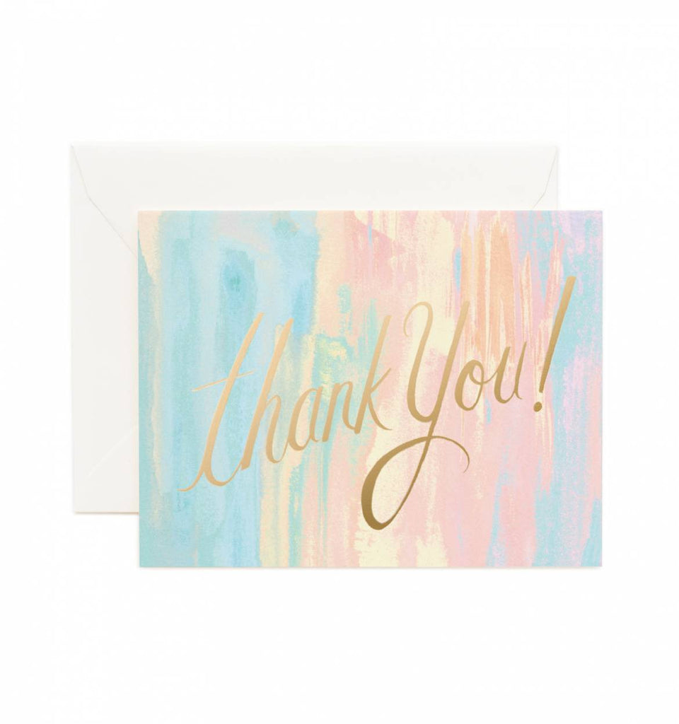 Watercolor Thank You Card by Rifle Paper Co