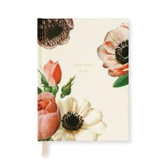 Blushing Floral Wedding Gift Log by Kate Spade