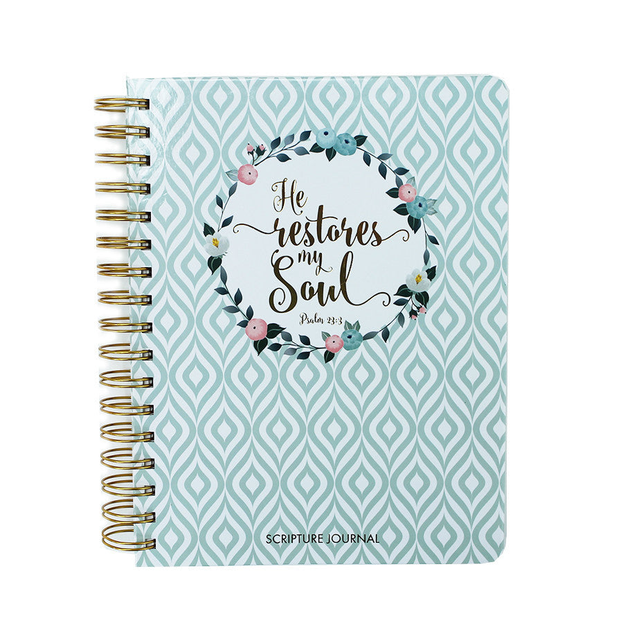Blue Trellis Scripture Journal by Mary Square