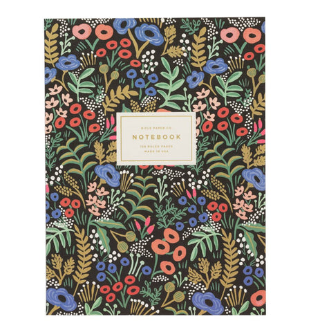 Tapestry Black Floral Memoir Notebook by Rifle Paper Co.