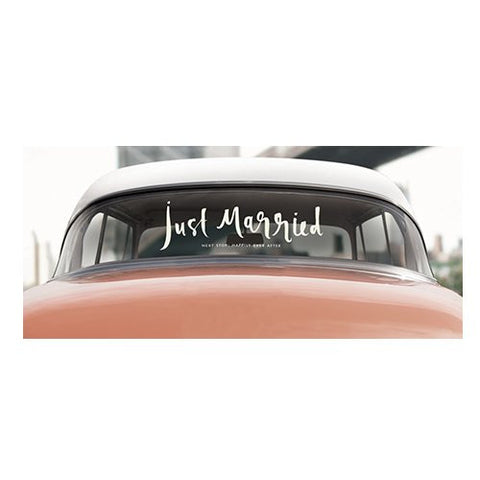 Just Married Car Decal by Kate Spade