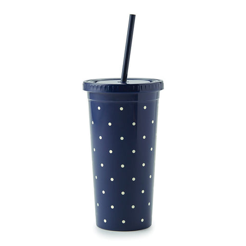 Larabee Dot Navy Insulated Tumbler by Kate Spade