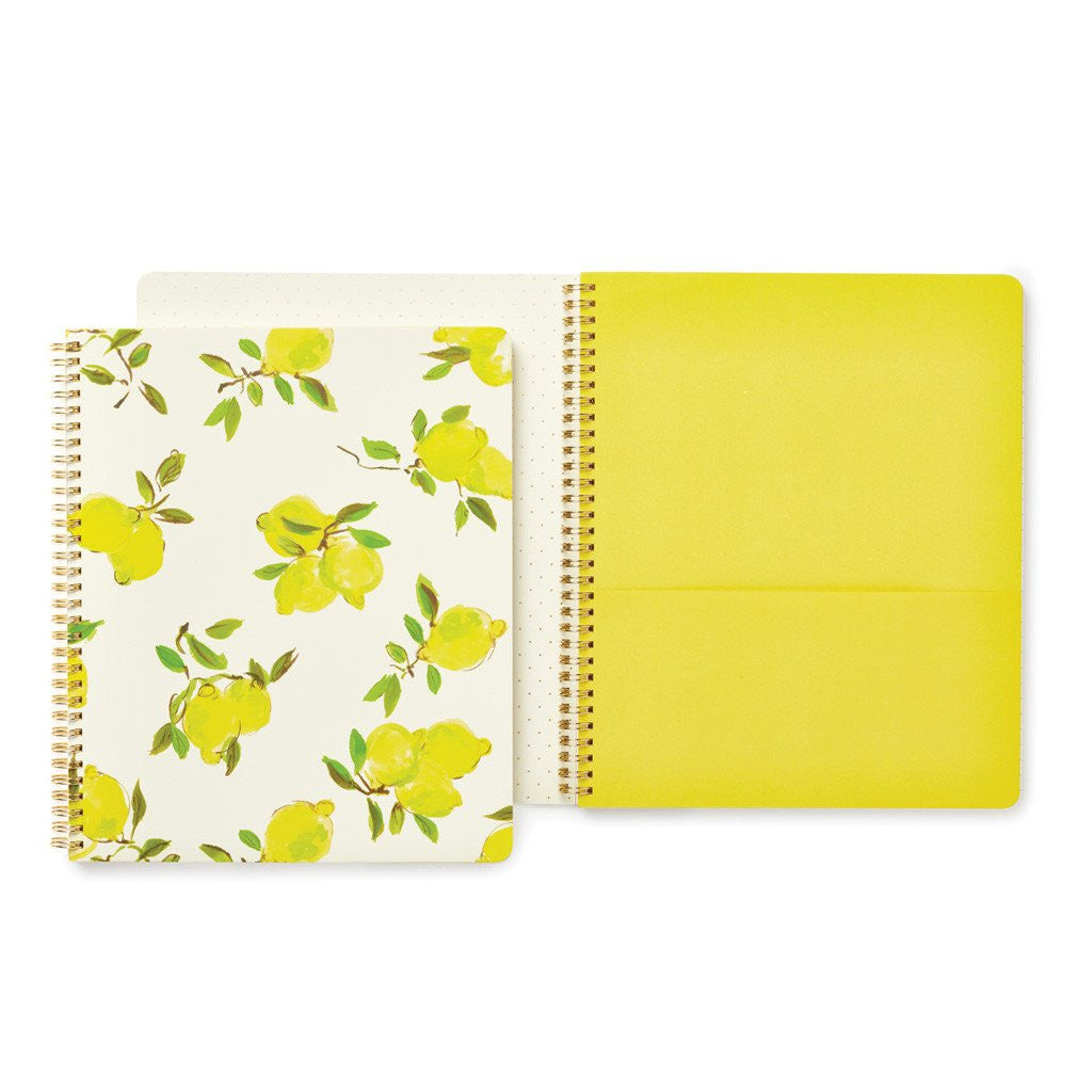 Lemon Large Spiral Notebook by Kate Spade