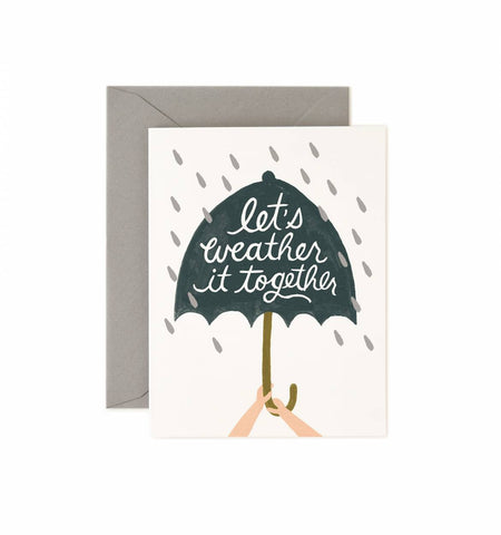 Let's Weather It Together Card by Rifle Paper Co