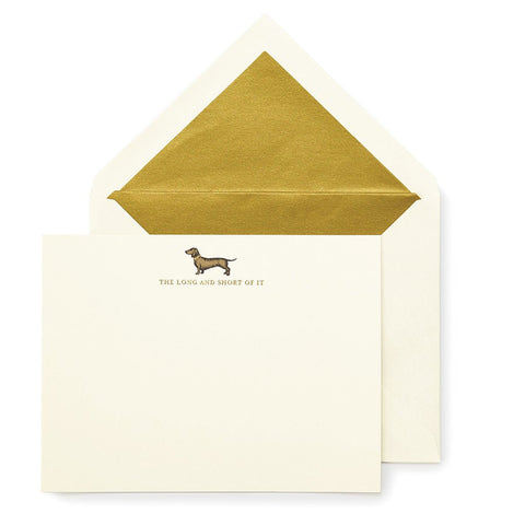 Long and Short of it Notecard Set by Kate Spade
