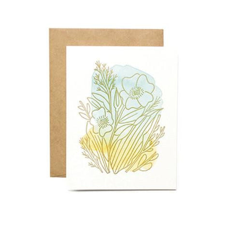 Mint Amber Marigold Card by Moglea