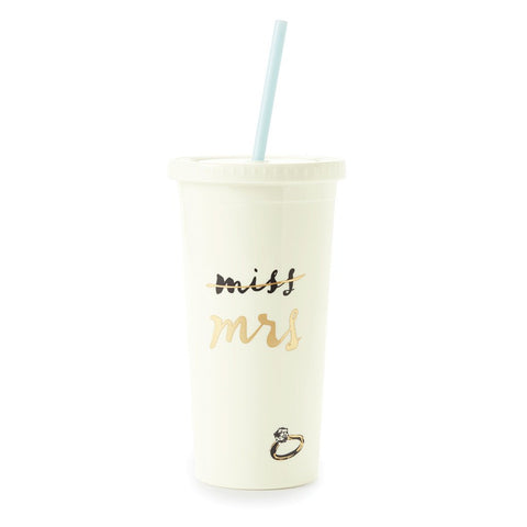 Miss to Mrs. Insulated Tumbler by Kate Spade