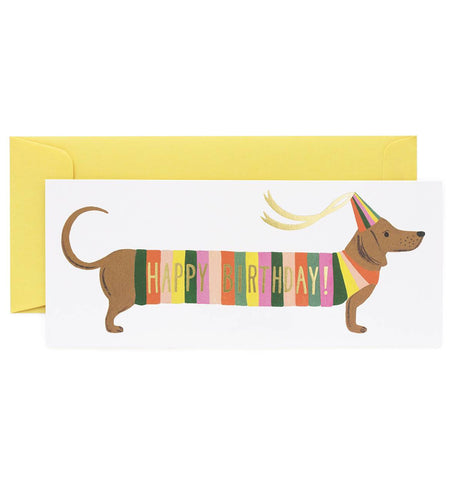 Happy Birthday Hot Dog Card by Rifle Paper Co