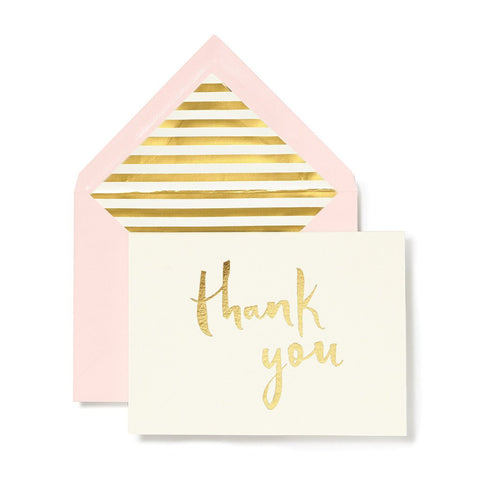 Paint Brush Thank You Card Set by Kate Spade