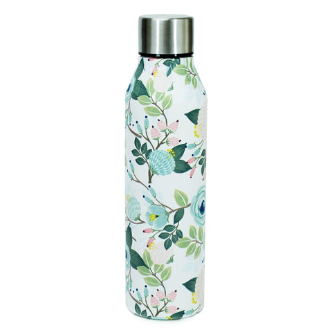 Peach Floral Stainless Water Bottle by Mary Square