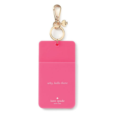 ID Clip Pink Why Hello There by Kate Spade