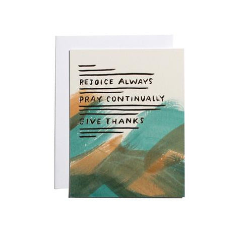 Rejoice Always Card by Moglea