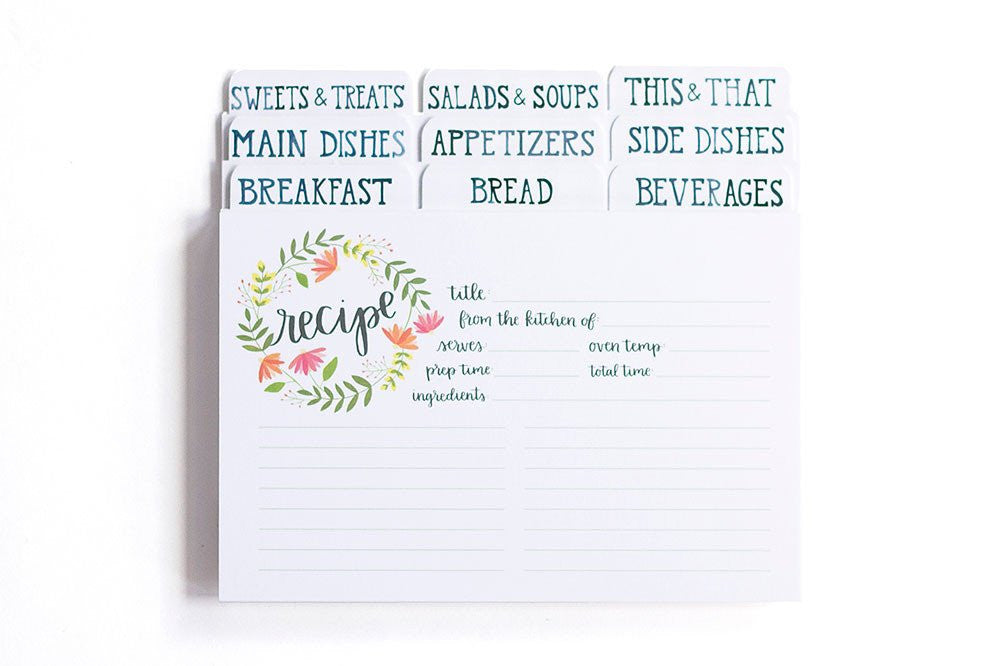 Summer Blooms Recipe Cards by 1 Canoe 2