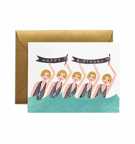 Synchronized Birthday Card by Rifle Paper Co.