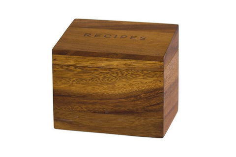 Acacia Heritage Wood Recipe Box by 1 Canoe 2