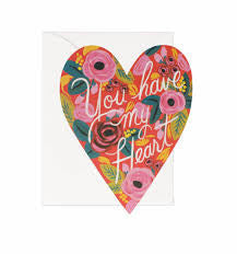 You Have My Heart Card by Rifle Paper Co