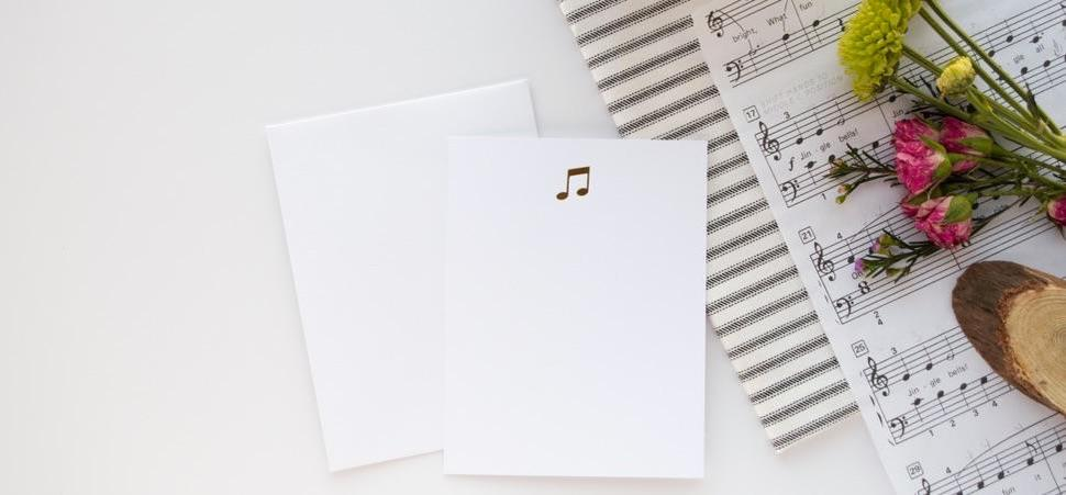Music Notes Foil Flat Notes