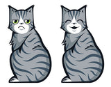 Wagging Tail Cat Car Decal