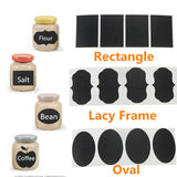 54 Chalkboard Labels - 3 Styles Per Pack