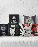 With the Force - Cotton Linen Pillow Covers - 5 Options