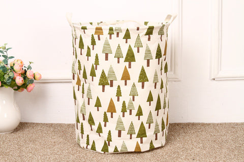 In The Wild.  Foldable Cotton Hamper.  3 Pattern Options