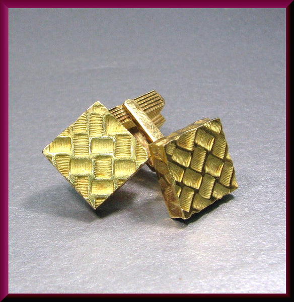 Vintage 18k Yellow Gold Tiffany and Company Cufflinks