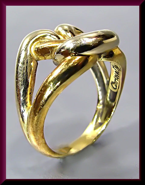 Vintage 18K Yellow Gold Christofle Twist Ring