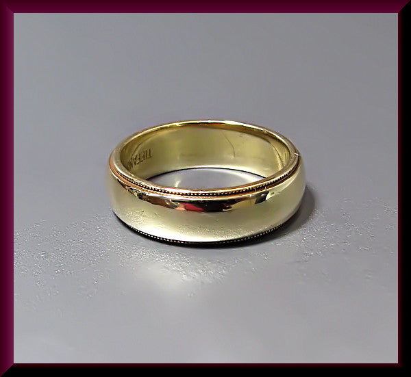 Vintage Tiffany and Company 18K Yellow Gold Band Ring