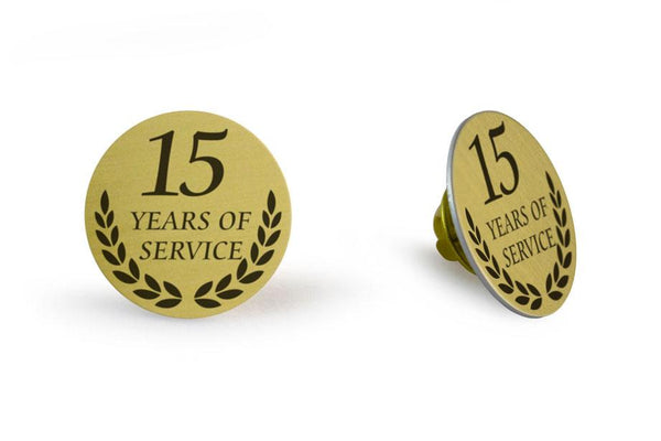 Lapel Pin Years Service 1x1 Silver Magnet
