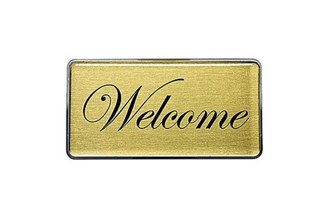 Rectangle Signage Gold Laser Kit 1.5x2.8