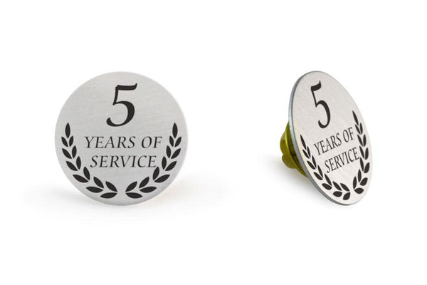 Lapel Pin Years Service 1x1 White Magnet