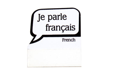 Badge Talkers I Speak French