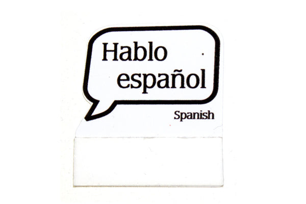 """I Speak Spanish"" Badge Talkers - 20 Units"