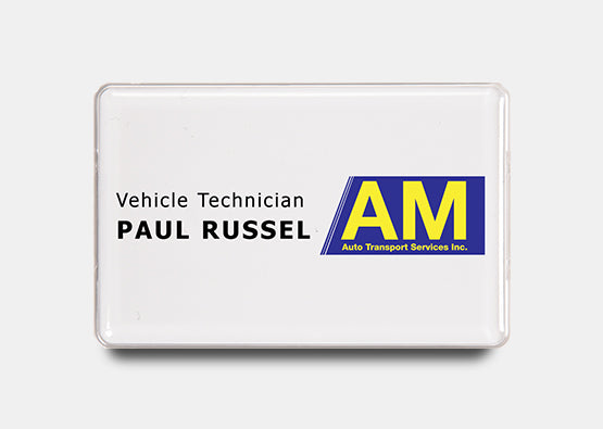 "Rectangle Name Badge Kit 2.1"" x 3.4"" 20 pcs"
