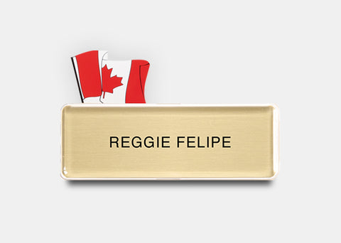Badge Talkers Canadian Flag